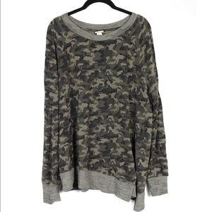 Mossimo Camouflage Green Sweatshirt Size XL